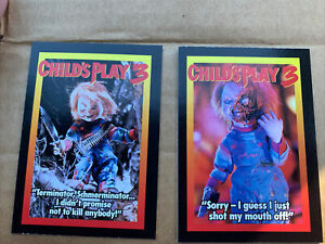CHILD'S PLAY 3 Killer Chucky Doll Movie Promotional Trading Card Set (1-5)