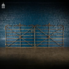More details for pair of 19th c scroll top iron driveway gates