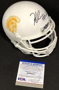 Keaontay Ingram Signed Autographed USC Trojans Custom White Mini Helmet Psa/Dna