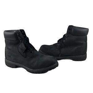Timberland Anti-fatigue Boots Limited Edition Black Camo Mens Size 12 - EUC