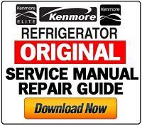 Kenmore Refrigerator Original Service Manual Repair Guide & Trouibleshooting