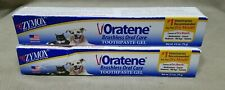 New listing Lot of 2 Zymox Oratene Brushless Oral Care Toothpaste Gel 2.5 Oz. Each Dog & Cat