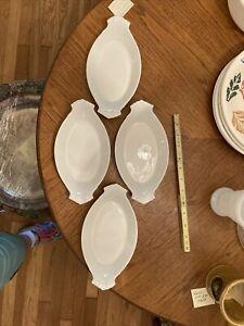 white au gratin dishes Apilco