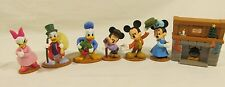 Disney Holiday MICKEY Christmas Carol Just Play Toy Lot of 6 Minnie Donald