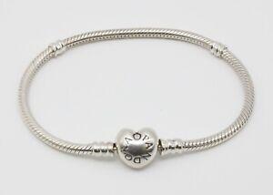 Armreif Pandora Schlangen Glieder Herzverschluss 925 Sterling 18 cm ohne OVP