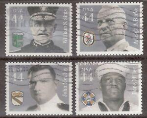 Scott #4440-43 Used Set of 4, Distinguished Sailors (Off Paper)