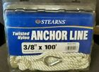 """Stearns Twisted Nylon Anchor Line 3/8"""" x 100' / White"""