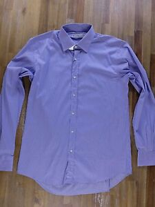 ETRO Milano slim-fit striped cotton shirt authentic - Size 41 EU / 16 / Large