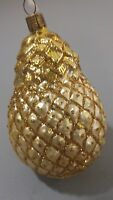 "Pineapple Ornament Chistmas Tree Decor Tropical Gold Glitter Jacobson NWT 5"" G15"