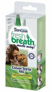 Tropiclean Fresh Breath Plaque Remover Teeth Gel for Pets, 4 oz each, 2 Pack