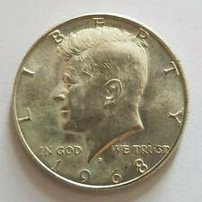 More details for 1968 united states of america kennedy 40% silver half dollar coin with coa