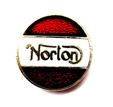 MOTORRAD Pin / Pins - NORTOM RUNDLOGO , emailliert [1030]