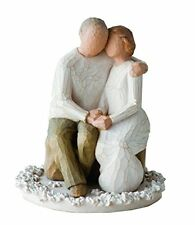 Wedding Anniversary Cake Topper Couple Figurine Romantic Love Bride Groom Decor