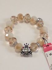 Betsey Johnson Frog Cherry Bead Stretch Bracelet  NWT $45 *Authentic*