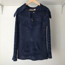 BDG Wool Blend Collared Jumper Sweater in Blue, Size M / AU Size 10