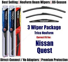 3-Pack Wipers Front & Rear NeoForm - fit 2004-2009 Nissan Quest - 16280/180/14D