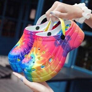 Women's Summer Colorful Platform High Heels Sandals Non-slip Beach Shoes Outdoor