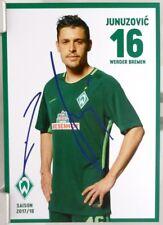 Zlatko Junuzovic + Autogrammkarte 2017/2018 + Werder Bremen + AK2018127 +