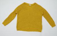 Jacqueline de Yong Womens Size M Textured Yellow Mustard Jumper (Regular)