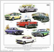 Chevrolet 1950s & 1960s fine art print-bel-air camaro impala chevelle nova ii