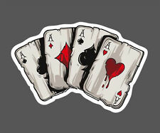 9x6cm Sticker Poker Suitcase Cool Wall Bike Skate Laptop Fridge Cup Car Styling