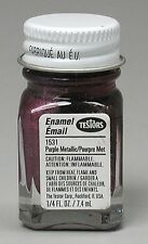 Testors 1/4 oz Purple Metallic Enamel Paint 1531