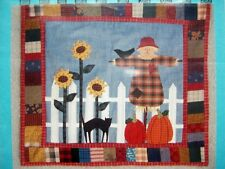 Sammy Scarecrow fusible applique pumpkins black cat quilt pattern