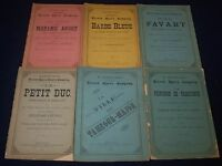 1879-1880 MAURICE GRAU'S FRENCH OPERA COMPANY PROGRAM LOT OF 6 - BARBE - O 2425