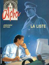 BD LE LOMBARD / EO / ALPHA / TOME 4 - LA LISTE--JIGOUNOV/MYTHIC