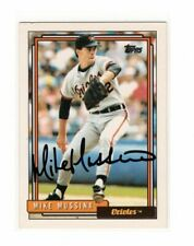 1992 Topps Mike Mussina Auto Signed Card #242