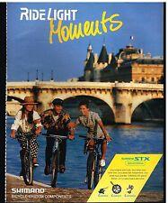 Publicité Advertising 1993 Les Velos Shimano STX