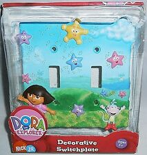 DORA THE EXPLORER DECORATIVE DOUBLE SWITHPLATE COVER