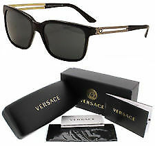 Versace-Sunglasses VE 4307 GB1 87 Black Gold Gray 58 mm VE4307 GB187