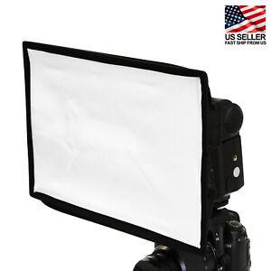 "8""x12"" Portable Universal Flash Softbox/Diffuser for Camera Flashgun Photography"