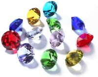 Set of 12 Glass Diamond Paperweight 60mm Home Wedding Decoration Valentines Gift