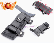 """7"""" Straight Leather Belt Sheath For Fixed Knife W/Pouch Knives Sheaths Hunting"""
