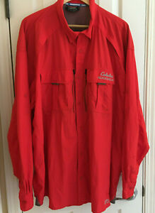 Cabelas Guidewear Men's Vented Button-Up Shirt 3XL Tall, UPF50 Rollup Sleeve