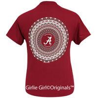 "Girlie Girl Originals ""Alabama Mandala"" Cardinal Red Short Sleeve T-Shirt"