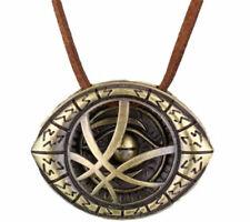 """Pendant on 16"""" Leather Cord Doctor Strange Eye Symbol Bronze Finish"""