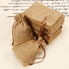 20x Hessian Burlap Favour Bags Wedding Oniere Rustic Pouch Bridal Party Gift