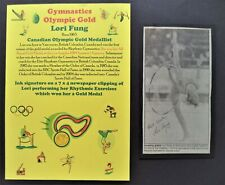 FUNG LORI CANADA RYTHMIC GYMNASTICS OLYMPIC GOLD MEDAL 1984 SIGNED PICTURE