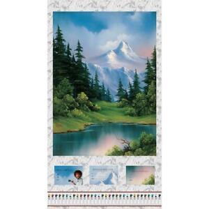 Studio E Fabrics Joy of Painting  Bob Ross Large Scenic Panel