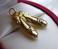 GENUINE RARE 9ct Gold Slippers charm gf,FREE POSTAGE IF YOU BUY TODAY! 39