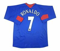 Manchester United 2005-06 Authentic Away Shirt Ronaldo L/S Soccer Jersey