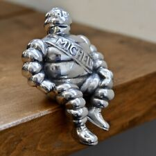 Aluminium Michelin Man Car Bonnet Scooter Mascot Bibendum Hood Collectable