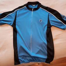 Nike Cycle Jersey Bike Shirt Size M Medium Bicycle Blue & Black