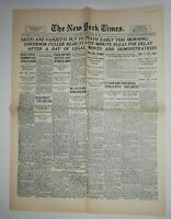 N860 La Une Du Journal The New York times 23 August 1927 Boston, Chaplin