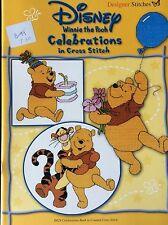 Designer Stitches Counted Cross Stitch -Disney Winnie The Pooh Celebrations Book