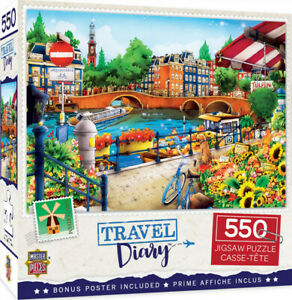 Masterpieces 550 Piece Jigsaw Puzzle - Travel Diary Amsterdam