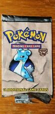Pokemon Lapras Fossil Booster Pack 1999 EMPTY